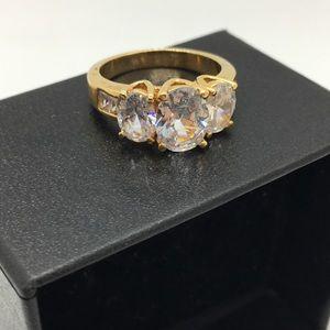 3 stone CZ costume ring